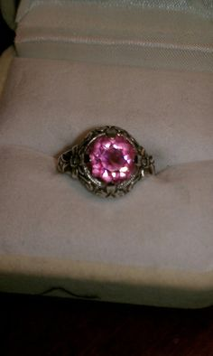 Pretty in Pink ring by TimelessandForever on Etsy, $40.00