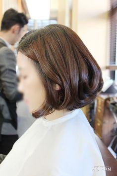 각진 얼굴형에 어울리는 단발머리 웨이브 : 네이버 블로그
