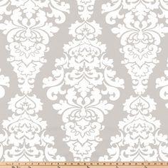 French Gray Berlin Duck Cloth Fabric