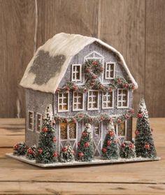 Christmas Gingerbread, Christmas Paper, Retro Christmas, Christmas Home, Christmas Crafts, Christmas Decorations, Christmas Ornaments, Gingerbread Houses, Christmas Mantles
