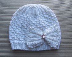 Knitting Pattern 71 Baby Hat with a Butterfly от handknitsbyElena