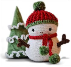 Pepika Amigurumi Pattern - Frosty the Snowman and Christmas Tree