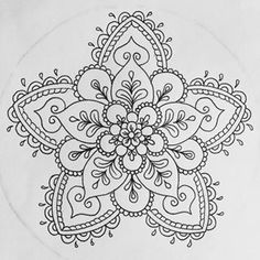 Hard Flower Coloring Pages - Flower Coloring Page. Mandala. Mandala ...