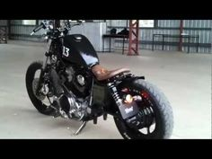 91 Yamaha XV 1100 Custom Bobber - YouTube