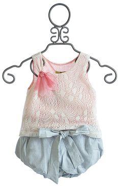 Little Mass Toddler Girls Aqua Peche Top and Bubble Shorts