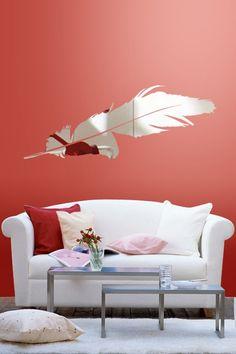Wall Decals Reflective Feather- WALLTAT.com Art Without Boundaries