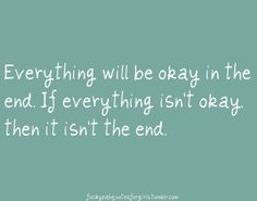 Everything's ok...