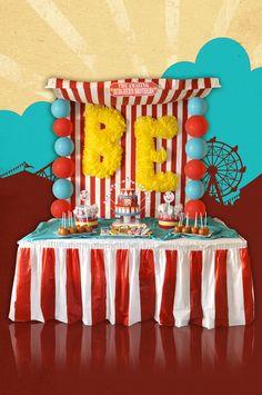 Cute carnival dessert table #carnival #circus #desserttable