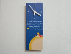 Little Prince  Le Petit Prince  Wall Clock by ObjectIndustrialArt