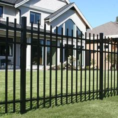 shop freedom black aluminum fence panel common 60 in x 72 in