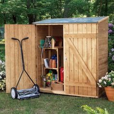 Shed Plans - Small Storage Building Plans : Diy Garden Shed A Preplanned Check List . Now You Can Build ANY Shed In A Weekend Even If You've Zero Woodworking Experience! Outdoor Tools, Outdoor Tool Storage, Garden Storage Shed, Diy Shed, Outdoor Sheds, Backyard Storage, Backyard Toys, Backyard Sheds, Outdoor Stuff