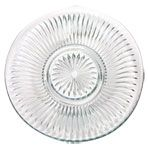"Elegant Cut-Glass Dinner Plates, 10""    Unit Price: $1.00    Minimum Qty: 24 (1 case)"