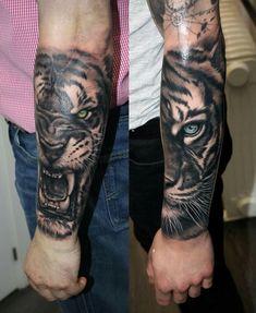 Pin by johan goyens on tatoo tattoos, tiger tattoo, animal tattoos. Badass Tattoos, Life Tattoos, Body Art Tattoos, Hand Tattoos, Cool Tattoos, Tattoo Ink, Tiger Tattoo Sleeve, Lion Tattoo Sleeves, Full Sleeve Tattoos