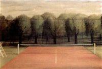 Tennisbaan by Pyke Koch