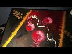 Abstract Painting Abstrakte Spielerei Demo Acrylmalerei Speed Painting - YouTube