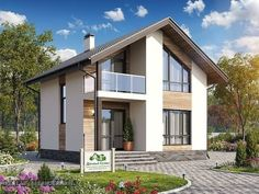 (1) Одноклассники Two Story House Design, Wooden House Design, Bungalow House Design, House Outside Design, House Front Design, Small House Design, Small House Exteriors, Dream House Exterior, Beautiful House Plans