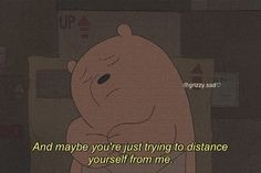 Meant To Be Quotes, Bff Quotes, Photo Quotes, Mood Quotes, Mood Wallpaper, Bear Wallpaper, Cute Images With Quotes, Ice Bear We Bare Bears, Girl Cartoon Characters