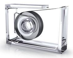 Roll Air Desk Tape Transparent Dispenser from Design Meets Tech: Feat. Lexon & BoomPods on Gilt Lexon Design, Colored Tape, Desk Essentials, Home Office Accessories, Desk Styling, Deco Originale, Tape Dispenser, Kartell, Crystal Design