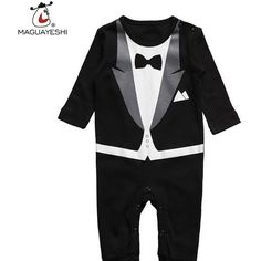 Gino Giovanni Brand Infant Kids Baby Toddler Boys 5 Piece Deluxe Black Tuxedo Suit 24 Months X-Large