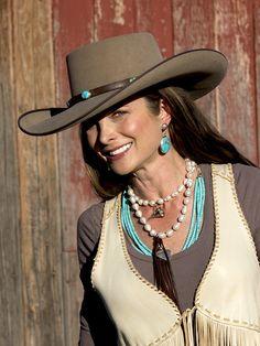 ❤ Cowgirls Fashions Western Style Brit West - Felt Cowboy Hat