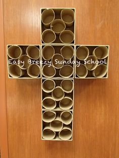Prayer Cross // Create a whole wall (~100 boxes) for students to place their prayers in
