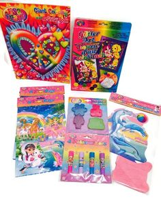 of Colors Bundle Includes 7 Items - One and Book, One Decoration, Two (Packs of Loot Bags, One Glitter Art Project, One (Pack of and One (Pack of Maze Loot and Prize Bags: & Games. Candy Party, Party Favors, Lisa Frank Clothing, Maze Puzzles, Retro Styles, Glitter Art, Loot Bags, Rainbow Unicorn, Book Activities