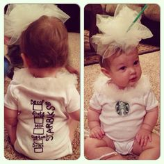 A latte cuteness! Starbucks Halloween costume.