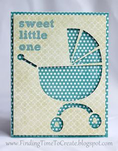 Simple negative space Baby Boy Card. #silhouettedesignteam