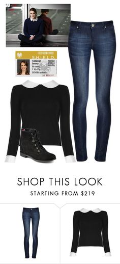 """Jemma Simmons ~ Agents Of S.H.I.E.L.D"" by jacksangelwings ❤ liked on Polyvore featuring DL1961 Premium Denim, Alice + Olivia, Sperry and Marvel"