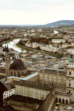 Salzburg, Austria.  This is taken at the top of the hill from the Fortress.  One of my favorite moments in Salzburg