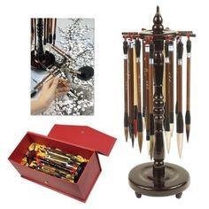 Golden Panda Master Quality Chinese Calligraphy Paint Brush Set 18 Master Quality Chinese Calligraphy Brushes - [Set of 18]