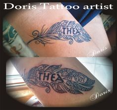 maori feather tattoo by Doris tattoo Israel