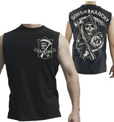 Buy this cool #Tanktop : Sons Of Anarchy Reaper Muscle Tank Top Samcro Shield Authentic Adult Shirt NEW 3XL. Visit micbear.com