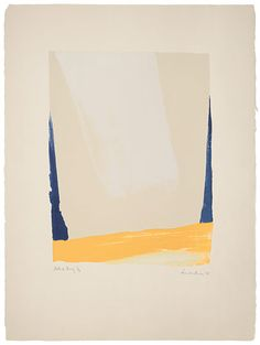 Helen Frankenthaler White Portal, 1967 Lithograph 30 x 22 inches Artist's proof, aside from edition of 18 Published by ULAE Printed by Donn H. Steward Harrison 10