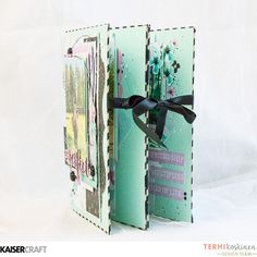 'Perfect Mini-book' [view b]  by Terhi Koskinen Design Team member for Kaisercraft Official Blog and featuring their 'Wildflowers' collection [March 2017]  Learn more at kaisercraft.com.au/blog  ~  Wendy Schultz ~ Mini Albums.