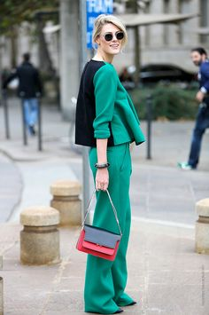 Thestreetfashion5xpro: In the Street...Green light...Verde mania...For vogue.it