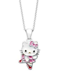 d323d29ad808 The sterling silver Princess Kitty ballerina pendant from Hello Kitty