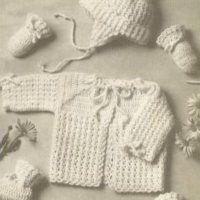 Puff Stitch Baby Set ~ Antique Crochet Patterns