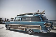 55 Custom Chevy Surf Woody