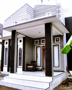 In Desain Teras Rumah Minimalis House Plans, Home, Minimalist Home, Small House Design, House Design, Modern, Minimalist Kitchen, Affordable Bedroom Sets, House Front