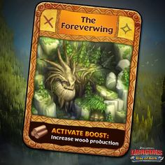 Dragons: Rise of Berk - The Foreverwing card