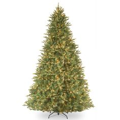 Tiffany Fir 9' Green Artificial Christmas Tree with 1050 Clear Lights and Stand