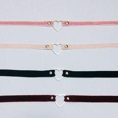 Heart Velvet chokers by AprilsDaughter on Etsy  Definitely going to get one!
