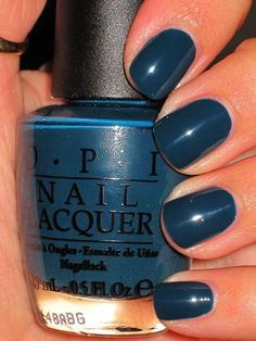 #OPI #Nail #Manicure Ski Teal We Drop...prob my fave mani/pedi color ever, and perfect for fall!