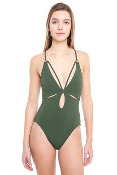 Robin Piccone Ava Signature Braided One Piece Swimsuit | South Moon Under