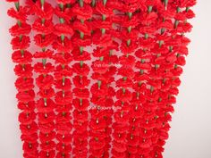 6 pcs 5 ft red artificial marigold flower garlands, Indian wedding party decoration garlands, Mehendi/haldi decor 6 pcs 5 ft red artificial marigold f. Cheap Baby Shower Decorations, Office Party Decorations, Hawaiian Party Decorations, Birthday Decorations, Flower Garland Wedding, Wedding Flower Decorations, Flower Garlands, Flowers Decoration, Wedding Stage