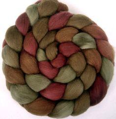 Handpainted Merino Wool Roving  4 oz CIDER by GreenwoodFiberworks, $15.00