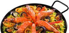 Paella Fácil | Peixes e frutos do mar > Paella | Receitas Gshow Homemade Fish And Chips, Shrimp, Seafood, Salad, Ethnic Recipes, Tarts, Seafood Recipes, Cod Fish Recipes, New Recipes