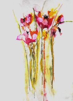 "Saatchi Online Artist Karin Johannesson; Painting, ""Pink Poppies II"" #art"
