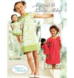 Kwik Sew K3905, matching dresses for girls and their dolls